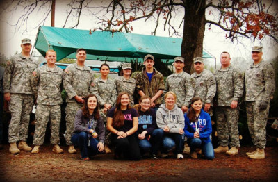 CHS JROTC helps deliver trees to soldiers