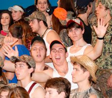 Students show their spirit against rivals Mid-Carolina