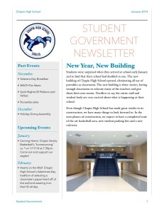 Student Government Newsletter 2014