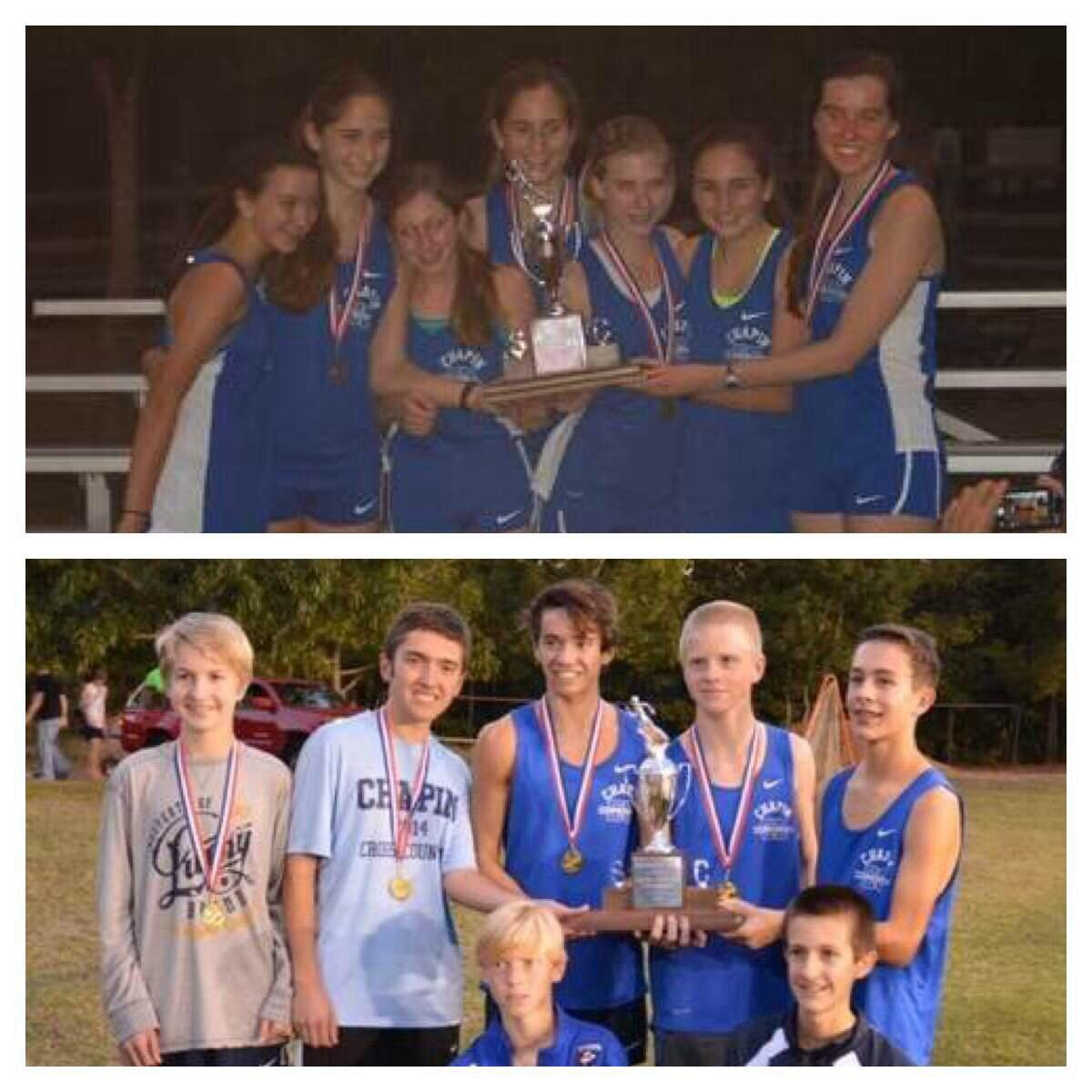 Both boys and girls Cross-Country teams win their region.