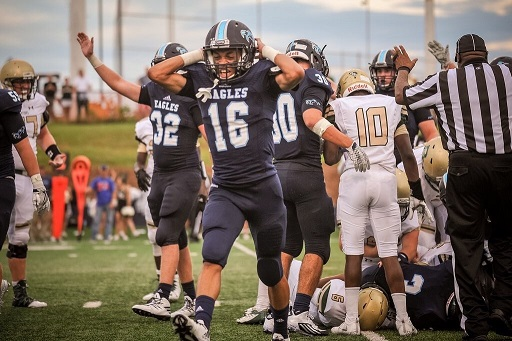Nick Price, junior, celebrating after a play against River Bluff last week.