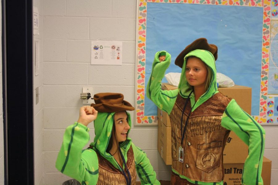 Mary Grace Galloway and Sarah Miller are Turtle Twins.