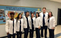 Health Science Students Surprised with Lab Coats
