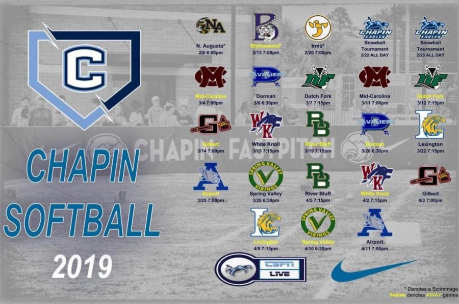 Chapin Softball 2019 The Move to 5A