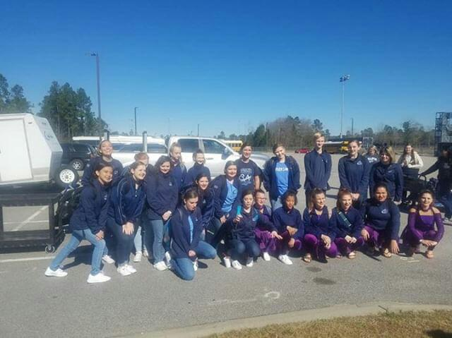 The Chapin Varisty and Cadet Winterguard