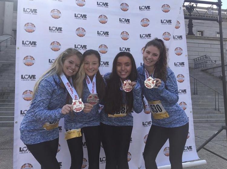 Mckenna+Simons%2C+Ava+Ellis%2C+Haley+Narzario+Ramos%2C+and+Rachel+Brim+with+medals+
