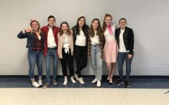Arianna Yoder, Jacob Briggs, Melanie Wells, Jacqueline Walker, Catherine Hopkins, Kelly O'Neill, and Malori Lesesne (Seniors) formed their own 1950s inspired group for Way Back Wednesday.