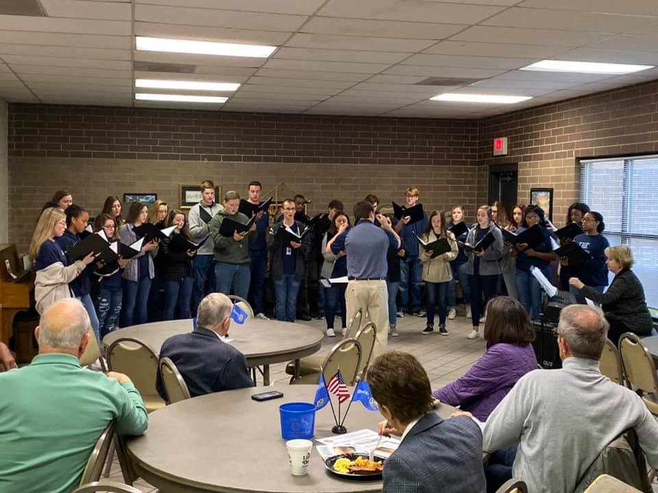 The Chapin Chamber Choir performs for the Chapin Rotary Club Sunrise meeting.