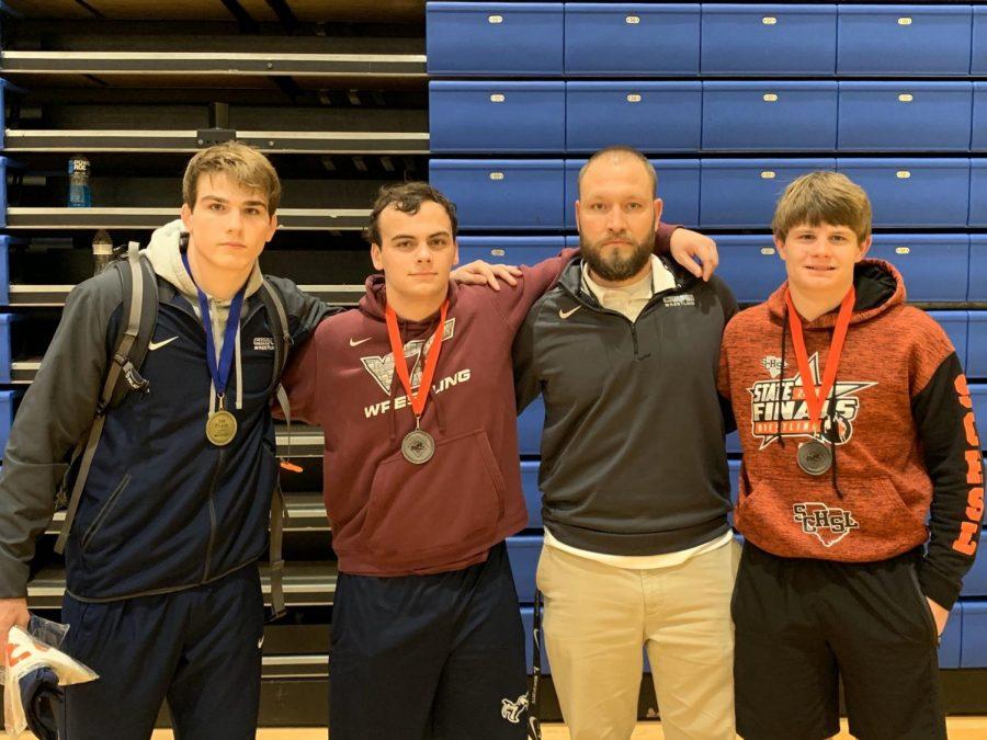 Shawn Haile, Hunter Dixon, Coach Flinchum, Josh Green