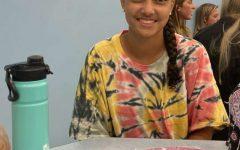 Senior Kyia Tucker who enjoys forensics the most.